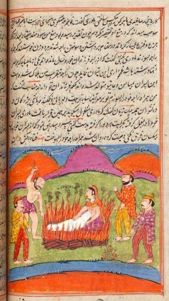 Mahabharata, Cachemire, fin XIXe siècle Manuscrit...