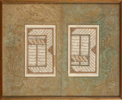 Deux pages d'un manuscrit poétique, Ghazalyat...