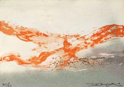 Zao Wou-Ki (franco-chinois, 1920-2013)
