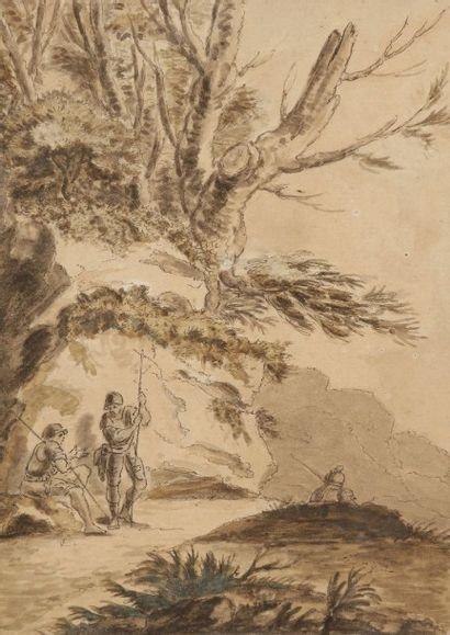 École française du XVIIIe dans le goût de Salvatore ROSA