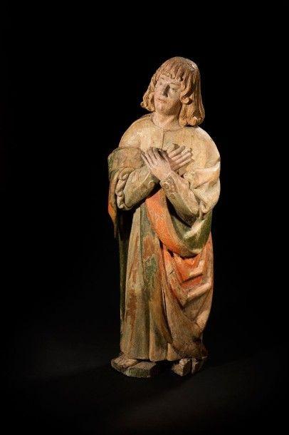 Saint Jean de calvaire en noyer sculpté en...