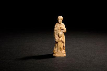 Saint Joseph et l'Enfant Jésus en ivoire...