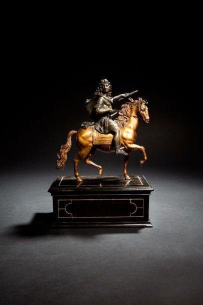 Groupe équestre représentant Louis XIV en...