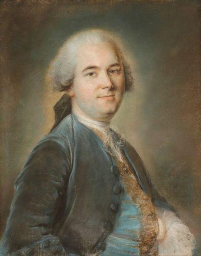 Louis VIGEE (Paris 1715 - Paris 1767) Portrait présumé du marquis de Ménars, en gilet...
