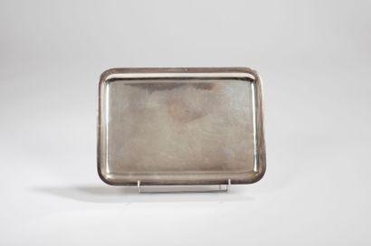 Plateau de forme rectangulaire, en argent,...