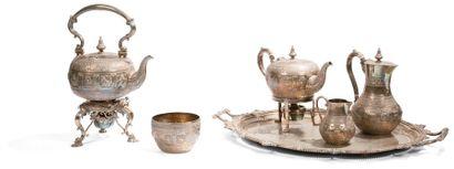 Service à thé café composé d'une bouilloire...