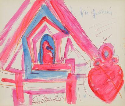 Fahr-el-Nissa ZEID [turque] (1901-1991) Album de Nice, 1952 Carnet de 27 aquarelles...
