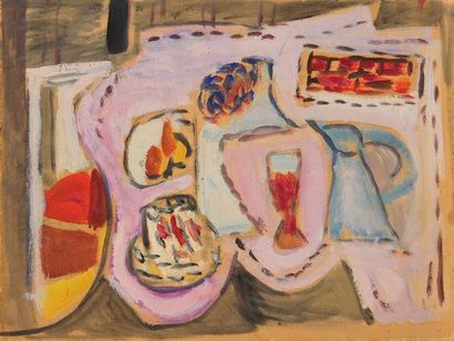 Francisco BORES [espagnol] (1898-1972) Nature morte - Composition, 1946 Huile sur...