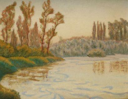 Charles LACOSTE (1870-1959) Paysages, 1929 2 huiles sur papier. L'une signée et datée...