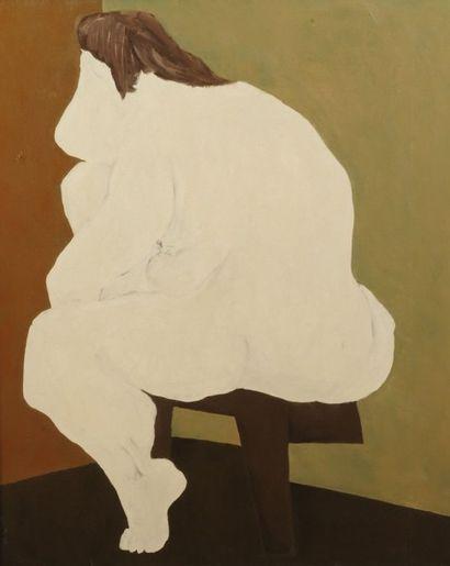 Robert NICOÏDSKI (1931-2001){CR}Femme assise{CR}Huile sur toile.{CR}Non signée.{CR}100...