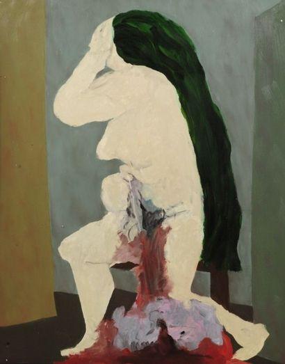 Robert NICOÏDSKI (1931-2001){CR}La Mère{CR}Huile...