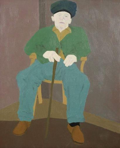 Robert NICOÏDSKI (1931-2001){CR}Homme assis...