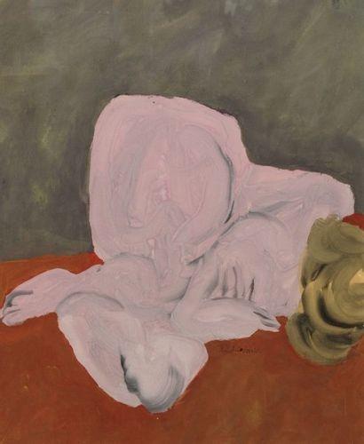 Robert NICOÏDSKI (1931-2001){CR}Nu couché{CR}Huile...