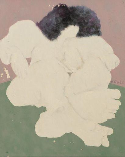 Robert NICOÏDSKI (1931-2001){CR}Femme étendue{CR}Huile...