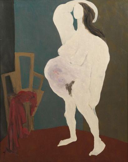Robert NICOÏDSKI (1931-2001){CR}Femme enceinte{CR}Huile...