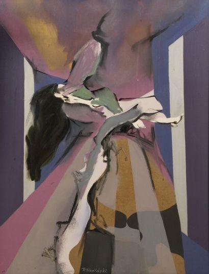 Robert NICOÏDSKI (1931-2001){CR}Composition{CR}Huile...
