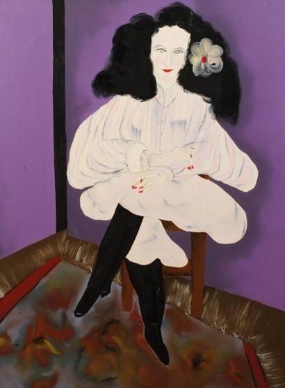 Robert NICOÏDSKI (1931-2001){CR}Femme assise{CR}Huile...