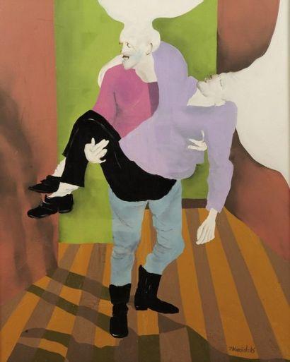 Robert NICOÏDSKI (1931-2001){CR}Le Couple{CR}Huile...