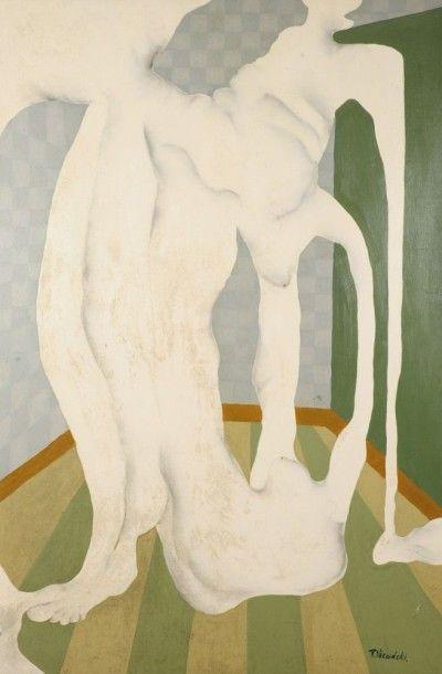 Robert NICOÏDSKI (1931-2001){CR}Deux nus{CR}Huile sur toile.{CR}Signée en bas à...