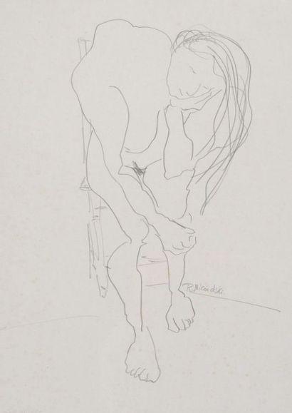 Robert NICOÏDSKI (1931-2001){CR}Femme pensive...