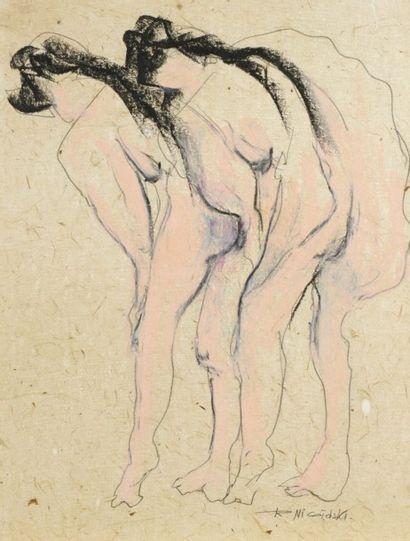 Robert NICOÏDSKI (1931-2001){CR}Deux nus{CR}Crayon...
