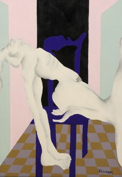 Robert NICOÏDSKI (1931-2001){CR}Nu à la chaise...