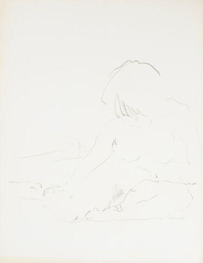 Robert NICOÏDSKI (1931-2001){CR}Études de nu{CR}3 dessins au crayon.{CR}Signés.{CR}66...