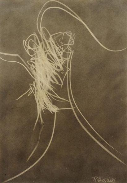 Robert NICOÏDSKI (1931-2001){CR}Composition - Nu{CR}2 techniques mixtes sur panneau.{CR}Signées...