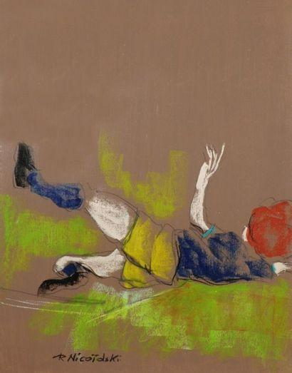 Robert NICOÏDSKI (1931-2001){CR}Footballeurs{CR}2...