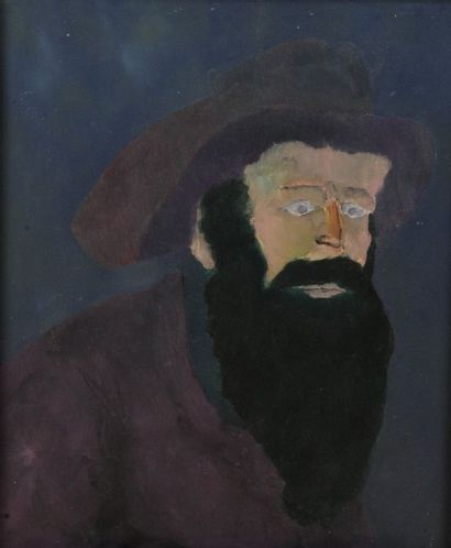 Robert NICOÏDSKI (1931-2001){CR}Homme barbu{CR}Huile...