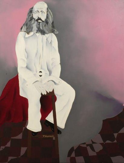 Robert NICOÏDSKI (1931-2001){CR}Homme barbu...