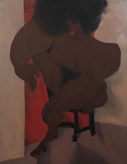 Robert NICOÏDSKI (1931-2001){CR}Femme noire...