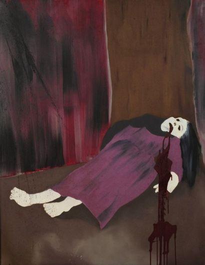 Robert NICOÏDSKI (1931-2001){CR}La Mort{CR}Huile...