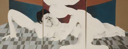 Robert NICOÏDSKI (1931-2001){CR}Nu masculin{CR}Huile...