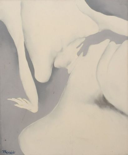 Robert NICOÏDSKI (1931-2001){CR}Nu féminin{CR}Huile...