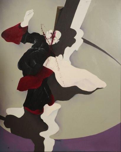 Robert NICOÏDSKI (1931-2001){CR}Autoportrait{CR}Huile...