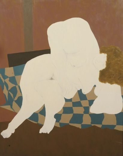 Robert NICOÏDSKI (1931-2001){CR}Nu au patchwork{CR}Huile...