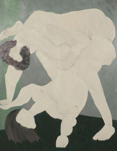 Robert NICOÏDSKI (1931-2001){CR}Deux nus{CR}Huile...