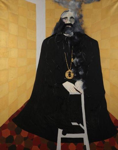 Robert NICOÏDSKI (1931-2001){CR}Le Gourou{CR}Huile...