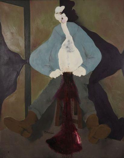 Robert NICOÏDSKI (1931-2001){CR}La Castration{CR}Huile...