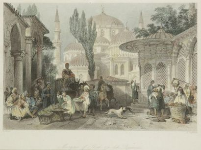 D'après Thomas ALLOM (1804-1872), vers 1840 Six gravures tirées de son récit de voyage...