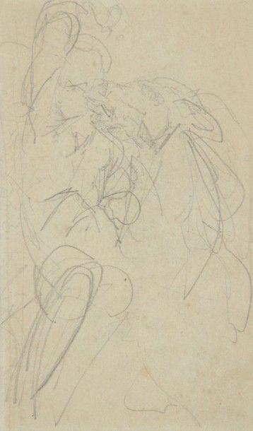 Emile-Othon FRIESZ (1879-1949) Cavalier sur sa monture Dessin à la mine de plomb....