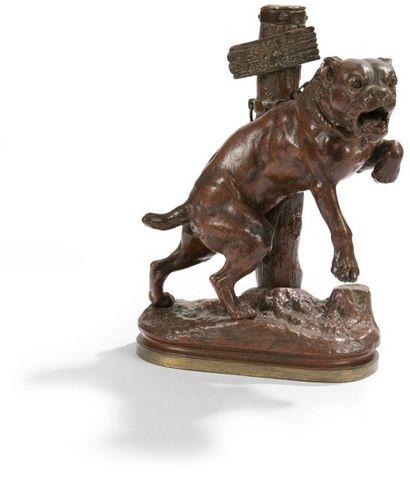 Charles VALTON (1851-1918) Passez au large Bronze à patine brun-rouge. Signé sur...