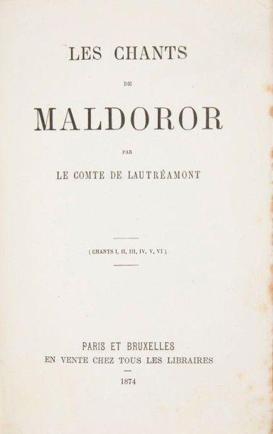 LAUTRÉAMONT Les Chants de Maldoror (Chants I, II, III, IV, V, VI). Paris;Bruxelles:chez...