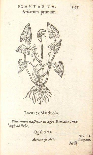 DU PINET (Antoine) Historia plantarum. Lyon:Gabriel Cotier, 1561. ? In-16, 640 pp.;229...