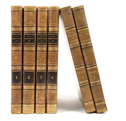 Tocqueville (Alexis de) De la démocratie en Amérique. Paris:Charles Gosselin, W....