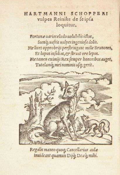 [ROMAN DE RENART (Le)] SCHOPPER (Hartmann). Opus Poeticum de admirabili fallacia...