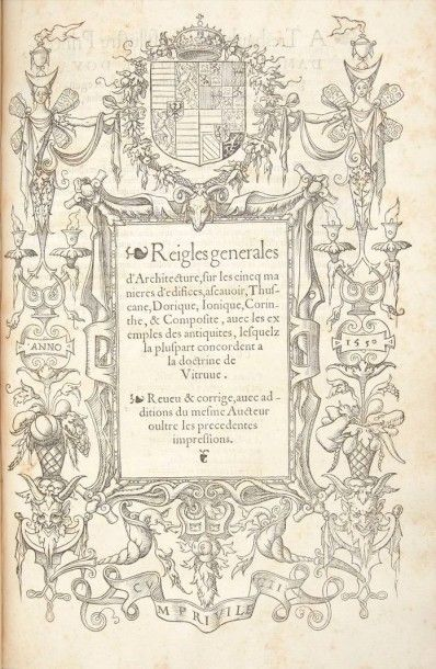 SERLIO (Sebastiano) Il primo libro d'Architettura, di Sebastiano Serlio, Bolognese....