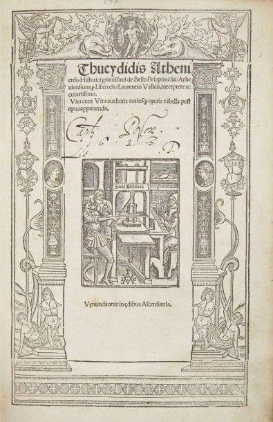 Thucydide Historici gravissimi de Bello Pelopõnesiti Atheniensiumq(ue) Libri octo...