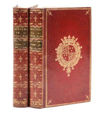 LA FARGUE (Étienne de) Oeuvres mêlées. Paris:Duchesne, 1765. ? 2 volumes in-12,...